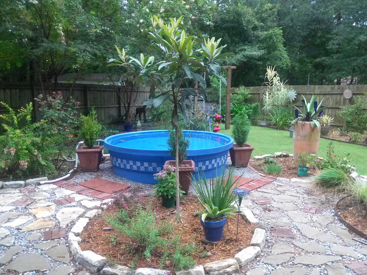 Bob lisa 39 s recycled garden in south carolina finegardening for Pop up garten pool