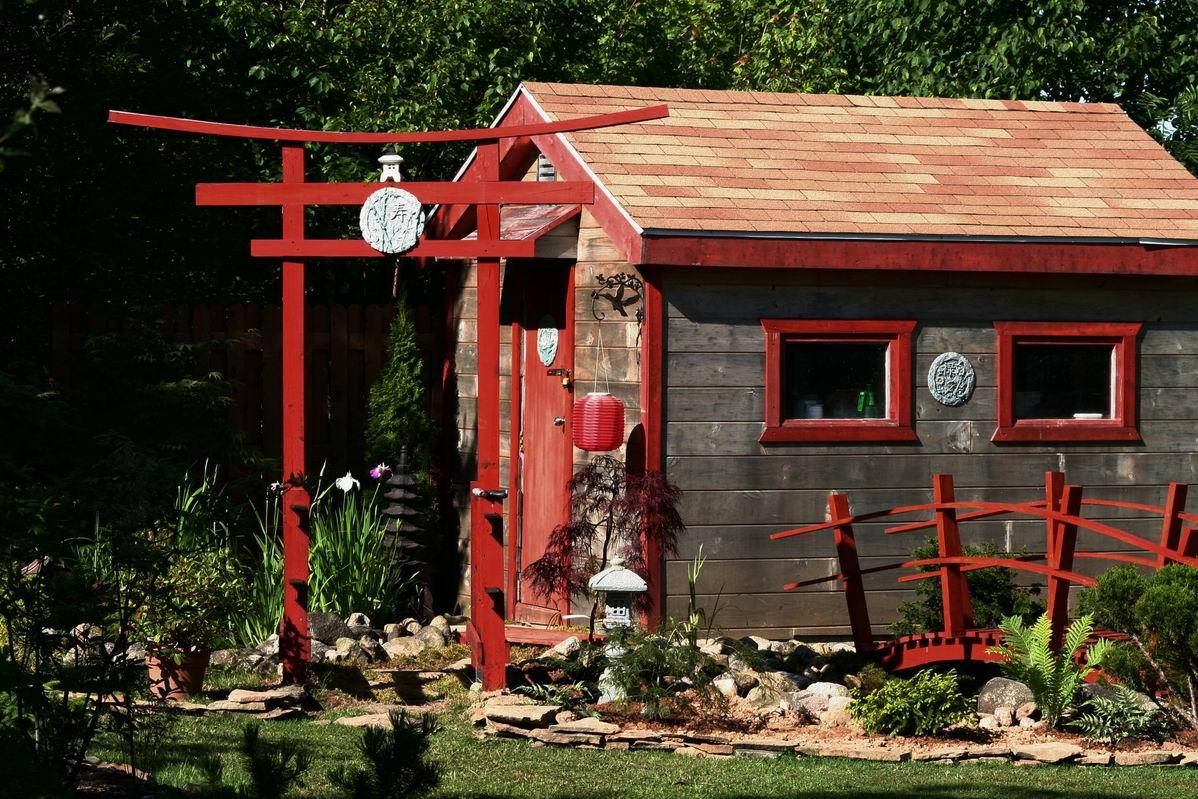 Reader photos gary 39 s japanese garden in nova scotia for Japanese garden shed