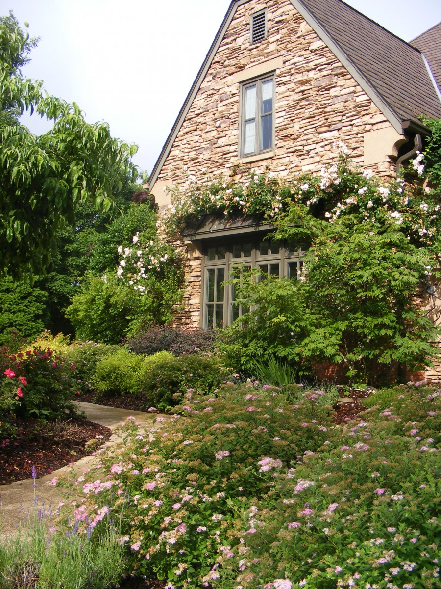 exquisite home and garden showplace.  Calton Front east exposure Darryl s Garden in Tennessee from Jeff FineGardening