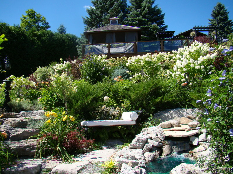 Sunny 39 s hillside garden in ontario finegardening for Garden design ideas ontario
