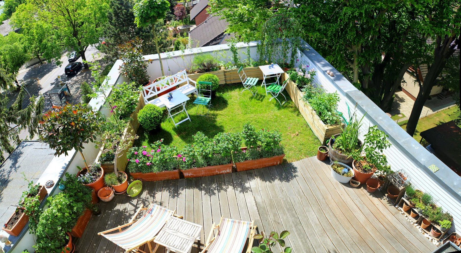 Rooftop Garden Ideas Part - 18: Tobiasu0027s Rooftop Garden In Berlin