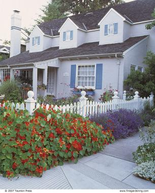 Front yard gardens make a strong first impression for Redesign the outside of your home