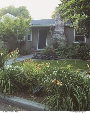 Front yard gardens make a strong first impression for Low maintenance foundation shrubs
