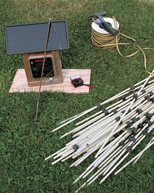 electric fence for garden. Materials And Costs Are Modest. Installation Of An Electric Fence For Garden D