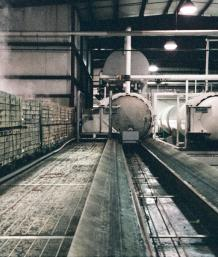 Lumber absorbs CCA pounds in large pressurized tanks